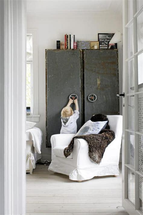 industrial danish interior interiors decor chic country room living diy furniture closet homedit cupboard bedroom metal den cabinets lockers industry
