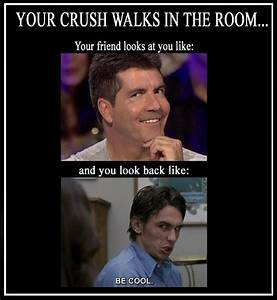 Your crush walks in the room... | Awkward Moments | Pinterest