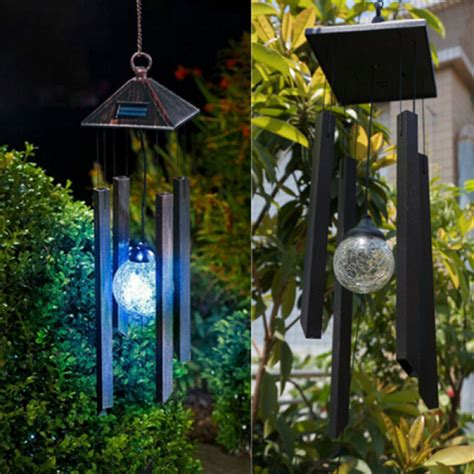 solar decorations buy solar colour changing led light l wind chimes