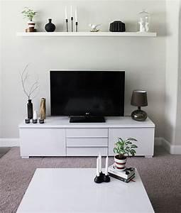 Minimalist, Tv, Stand, And, Cabinet, Ikea, Besta
