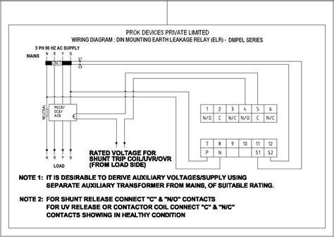 earth leakage relay wiring diagram 34 wiring diagram