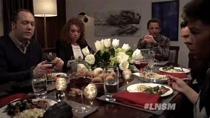 Dinner Party Snow Takes Jon Seth Meyers