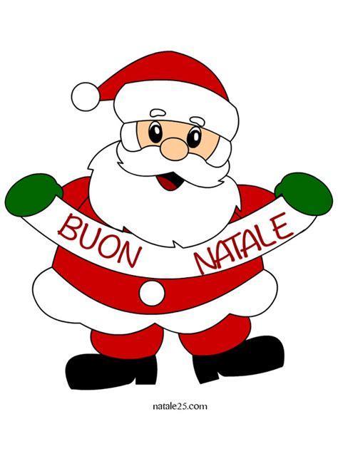 Clipart Babbo Natale Babbo Natale Con Scritta Buon Natale Natale 25