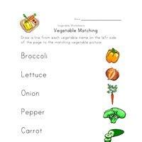 vegetable worksheets  kids network