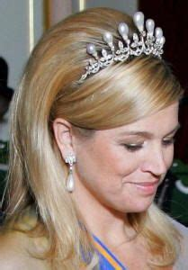 antique pearl tiara worn  hrh princess maxima