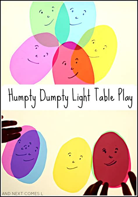 humpty dumpty light table play light amp reflections series 489 | humpty dumpty nursery rhymes for toddlers preschoolers color mixing light table activity