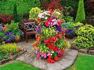 Flowers: Park Walk Bench Garden Flowers English Beautiful ...
