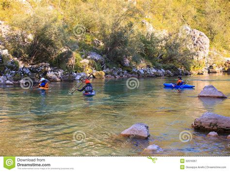 Paddle Boats River Torrens Prices by Kayaking On The Soca River Slovenia Editorial Photography