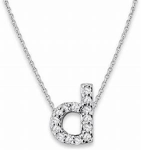 kc designs white gold diamond letter d necklace in silver With letter d necklace gold
