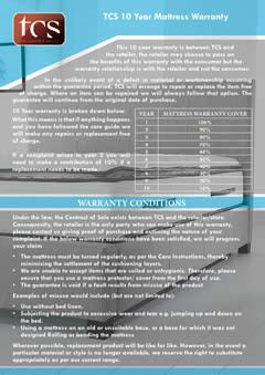 warranty  service guidelines tcs furniture