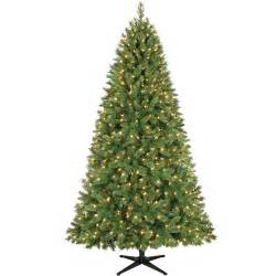 holiday time pre lit 7 5 foot kennedy fir artificial christmas tree clear lights ebay