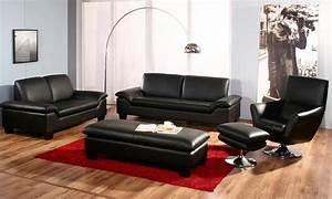 comment decorer son salon avec un salon en cuir design With bien decorer son salon
