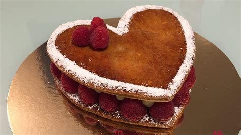 millefeuilles coeur vanille framboise de valentin les gourmandises de n 233 mo