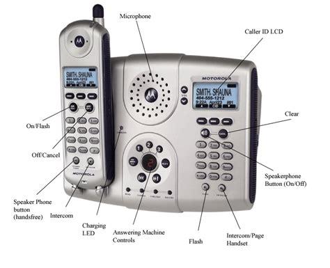 Diagram Of The Telephone by Motorola Md681 5 8ghz Cordless Speakerphone W