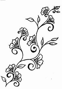 Vines Flowers Design Drawings - ClipArt Best