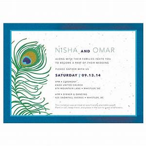 Plantable peacock wedding invitations peacock catalog for Wedding invitations you can plant