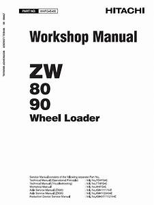 Hitachi Zw80  Zw90 Wheel Loader Service Manual