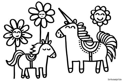 Kleurplaat Unicorn by Kleurplaat Schattige Unicorns