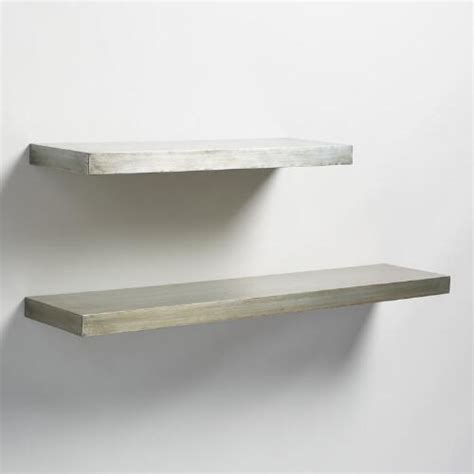 antique zinc floating ledge wall shelf