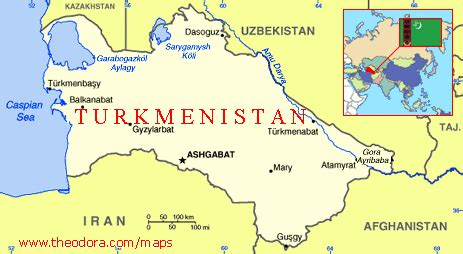 Turkmenistan Maps - Economy, Geography, Climate, Natural ...