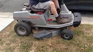 Craftsman Ii Riding Lawnmower 30 U0026quot  10 Hp Rear Engine Model