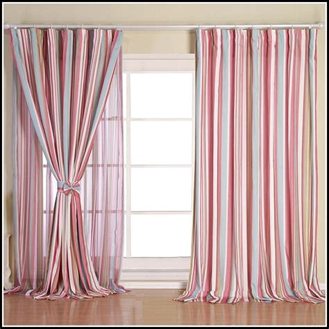 pink and white curtains light pink and white striped curtains curtains home