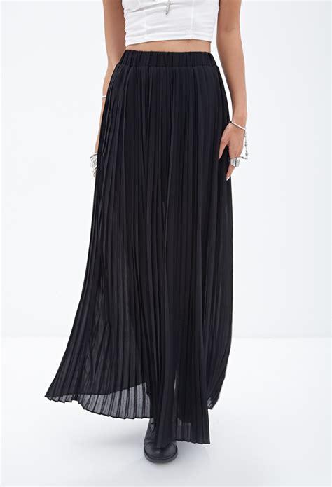 Pleated Black Maxi Skirt - Dress Ala