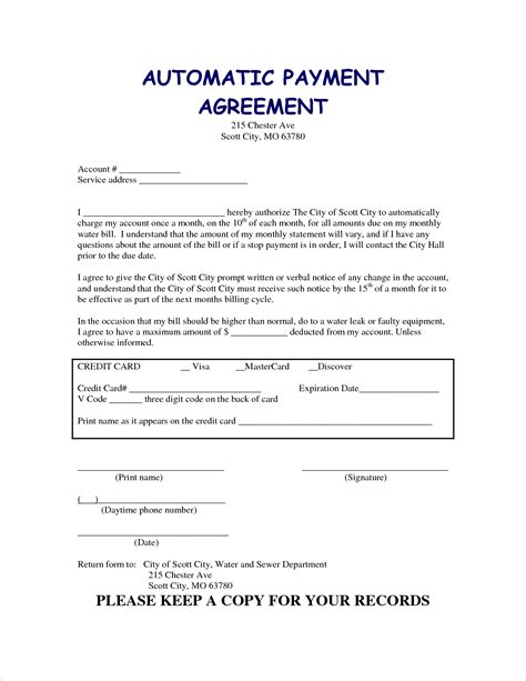 car payment plan agreement template 6 car payment contractreport template document report template