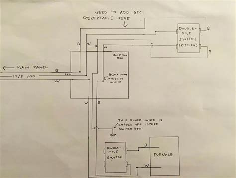 Switch Wire Diagram For Furnace by Electrical Need To Add A Gfci Outlet To An Existing