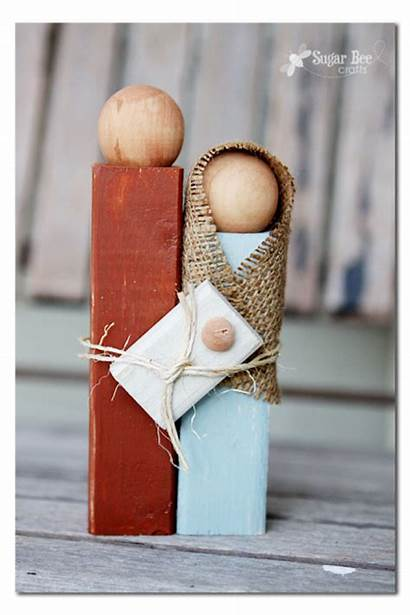 Christmas Craft Nativity Wooden Simple Diy Gifts