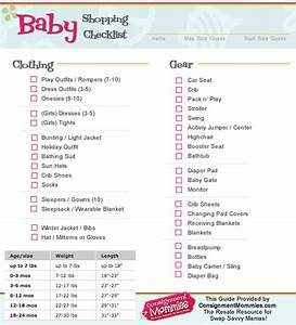 infant shopping checklist for spring or summer - clothing ...