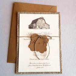 rustic wedding invitations etsy paper lemon rustic barn burlap wedding invitations ipunya