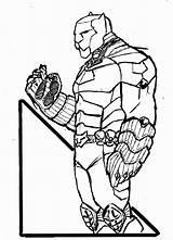 Panther Coloring Printable Animal Civil War Wakanda Captain America Disimpan Dari King sketch template