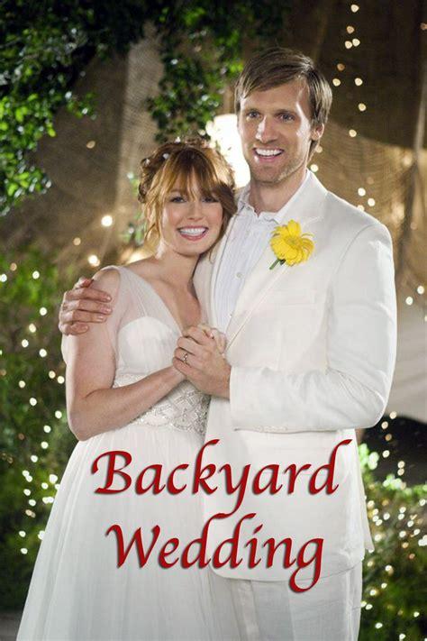 backyard wedding   med school graduate alicia witt