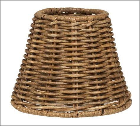 Wicker Chandelier L Shades by Woven Wicker Chandelier Shade Set Of 3 Pottery Barn