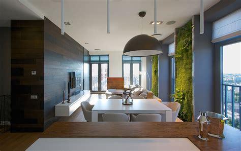 vertical gardening creates  oasis  contemporary apartment idesignarch interior