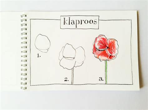 bloem tekenene bloemen tekenen stap voor stap je eigen klaprozen die
