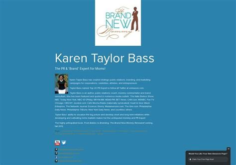 Karen Taylor Bass' page on about.me – http://about.me ...