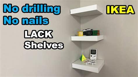 decorative wall shelf ideas ikea lack shelf no drilling no nails on wall