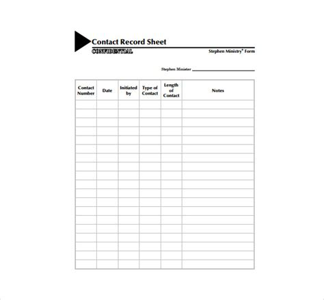 contact sheet template   excel documents