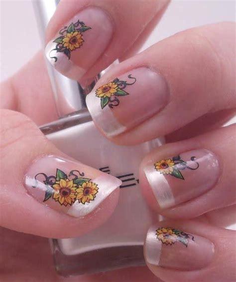 sunflower nail designs   season pretty designs