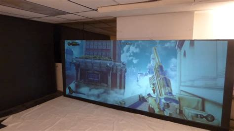 black   oled  projection screen kit
