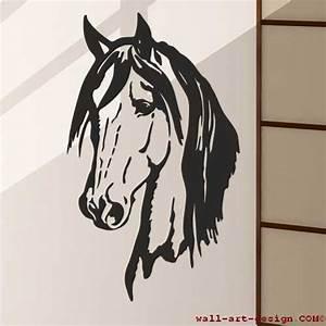 Pferdekopf Schwarz Weiß : wandtattoo online shop f r preiswerte wandtattoos wandtattoo pferdekopf pferd mustang wandbild ~ Watch28wear.com Haus und Dekorationen