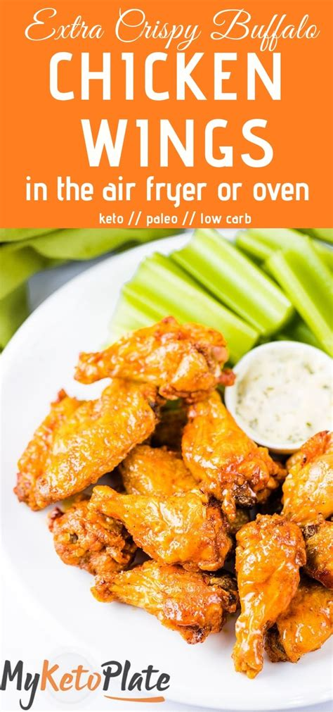 chicken crispy wings fryer air buffalo oil deep without sauce fried oven keto them frying juicy tons possible extra bake