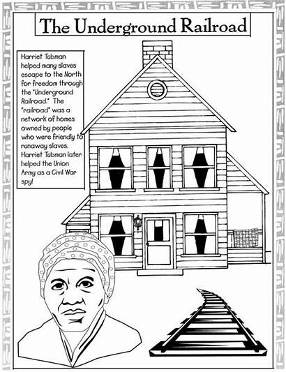 Tubman Harriet Coloring History Month Pages Underground
