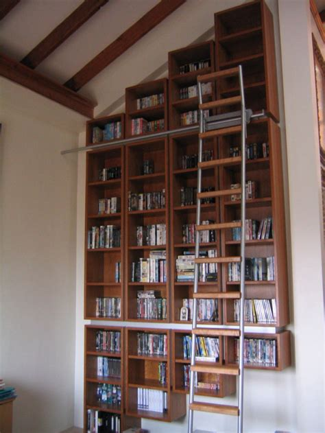 library bookcase with ladder library bookcase with sliding ladder stonermakes