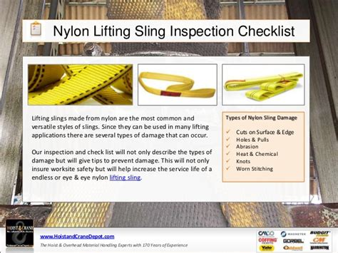 sling inspection form template nylon web slings inspection checklist
