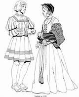 Renaissance Coloring Renacimiento Mode Colorear Dibujos Kleurplaat Kleurplaten Uit Costume Kleding Engeland 1520 Kleidung Coloriage Costumes Coloriages Imagen Habillement Moda sketch template