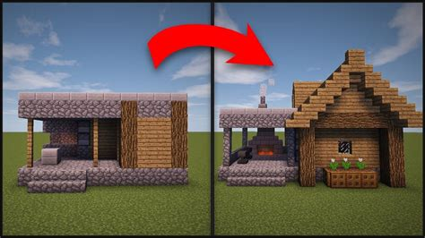 minecraft   remodel  village blacksmith minecraft
