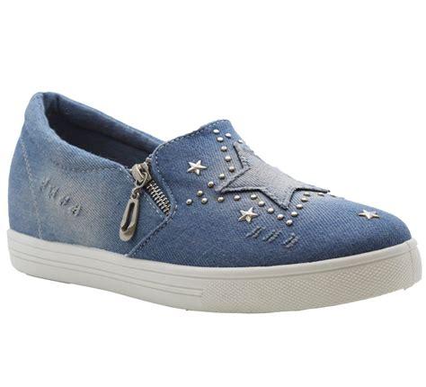 light blue flats bryony light blue flats stud denim trainers